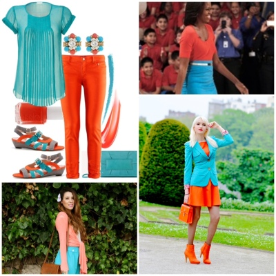 cc week turquoise and orange