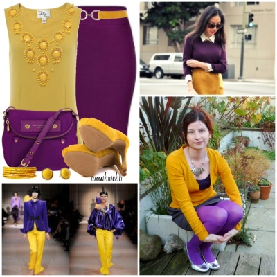 cc week purple and mustard