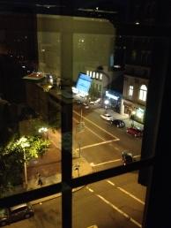 10 - The busy main street right beneath my bedroom window.