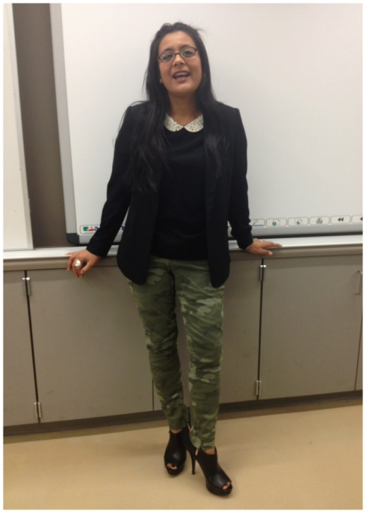 OOTD :: of pearls and camo mash-ups