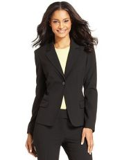 Macy's $23.99 - When I culled my closet of blazers, the last thing I'd thought to need was a basic black blazer. After all, I had as many black ones as I had all the colors combined. But the cull revealed black blazers that were too dated or too small so I ended up getting rid of them all and needing to replace this most basic staple.